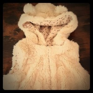 Fur bear hooded vest